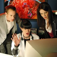 McGee (Sean Murray), Abby (Pauley Perrette) e l'Agente Susan Grady (Jackie Geary) nell'episodio Moonlighting di NCIS