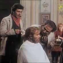 Antonio Orfanò con Franco Nero in una scena del film Garibaldi - Il generale, per la regia Luigi Magni