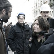 Sabina Guzzanti a L'Aquila nel film Draquila - L'Italia che trema