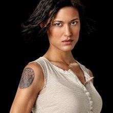 Julia Jones è Leah Clearwater in un'immagine promozionale del film The Twilight Saga: Eclipse