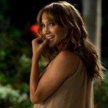 Una sorridente Jennifer Lopez nella commedia Piacere, sono un po' incinta