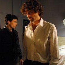 Massimo De Santis e Guido Caprino in una scena del film Sono viva