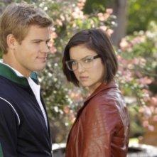 90210: Trevor Donovan e Jessica Stroup in una scena dell'episodio Meet The Parent