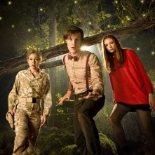 Doctor Who: Alex Kingston, Matt Smith e Karen Gillan nell'episodio Flesh and Stone