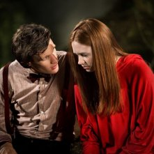 Doctor Who: Matt Smith e Karen Gillan in un momento dell'episodio Flesh and Stone