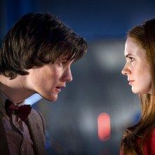 Doctor Who: Matt Smith e Karen Gillan nell'episodio Flesh and Stone