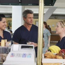 Grey's Anatomy: Jessica Capshaw, Eric Dane e Sara Ramirez nell'episodio Sympathy for the Parents