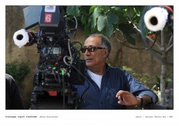 Abbas Kiarostami sul set di Copia Conforme