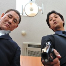 Kitano in una sequenza di Outrage