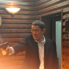 Wallpaper: Takeshi Kitano in una sequenza di Outrage