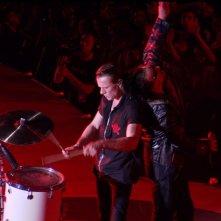 Bono e Larry Mullen degli U2 in un'immagine del film U2 3D