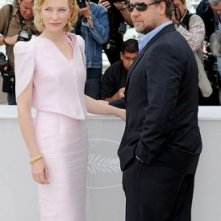 Cannes 2010: Cate Blanchett e Russell Crowe presentano Robin Hood.