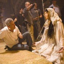 Gemma Arterton sul set del film Prince of Persia: Le Sabbie del Tempo con John Seale