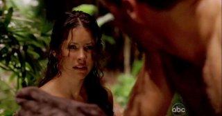 Matthew Fox e Evangeline Lilly in una scena di Attraverso il mare, tratta dalla sesta stagione di Lost