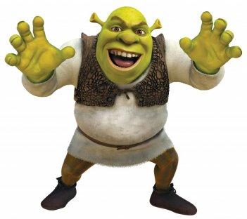 Il terrificante Shrek nel film Shrek e vissero felici e contenti