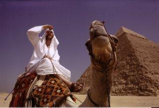 Morgan Spurlock in groppa a un cammello nel film Che fine ha fatto Osama Bin Laden?