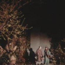 Robert Flemyng e Barbara Steele in una scena del film L\'orribile segreto del dottor Hichcock