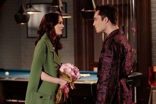 Leighton Meester e Ed Westwick in un momento dell'episodio Last Tango, Then Paris di Gossip Girl