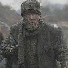 Un irriconoscibile Robert Duvall nel film The Road
