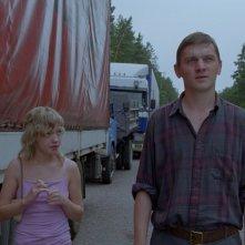 Una scena del film russo SCHASTYE MOE (You. My Joy)