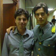 Alessandro Agnello e Claudio Gioè sul set de Il capo dei capi