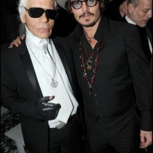 Cannes 2010: Johnny Depp con Karl Lagerfeld al party organizzato da Chanel al Vip Room