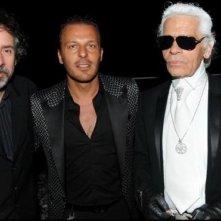 Cannes 2010: l'imprenditore Jean-Roch tra Tim Burton e Karl Lagerfeld al party organizzato da Chanel al Vip Room