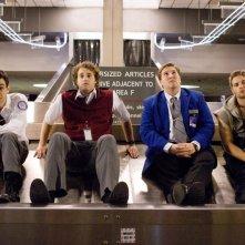 Jay Baruchel, Mike Vogel, Nate Torrence e T.J. Miller in un'immagine del film Lei è troppo per me