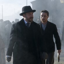 Paul Giamatti e James McAvoy in una scena drammatica del film The Last Station