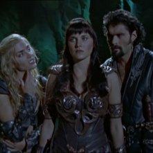 Kevin Smith Lucy Lawless e Hudson Leick nell\'episodio Xena contro Callisto e Marte