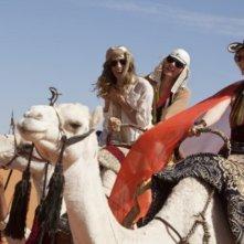 Carrie (Sarah Jessica Parker), Samantha (Kim Cattrall) e Miranda (Cynthia Nixon) in Medio Oriente per Sex and the City 2