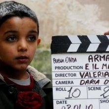 Denis Nikolic ai suoi primi ciak sul set del corto Armandino e il Madre