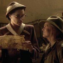 Renee O\'Connor con Lucy Lawless in Xena e le antiche pergamene