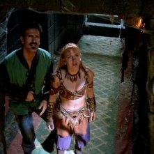 Renee O\'Connor e Bruce Campbell in Xena alla ricerca dell\'Ambrosia
