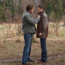 Un faccia a faccia tra Jared Padalecki e Jensen Ackles nell'episodio Swan Song di Supernatural