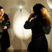Valeria Golino e Denis Nikolic sul set del cortometraggio Armandino e il Madre