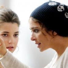 Valeria Golino ed Esther Garrel sul set del cortometraggio Armandino e il Madre