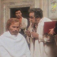 Antonio Orfanò (sullo sfondo) con Franco Nero in una scena del film Garibaldi The General regia di Luigi Magni