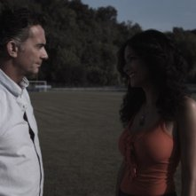 Fabio Bonini e Randi Ingerman in una scena del film Backward
