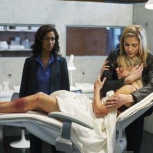 V: Elizabeth Mitchell, Rekha Sharma e Laura Vandervoort nell'episodio Fruition