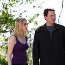 Adam Baldwin e Yvonne Strahovski in un momento dell'episodio Chuck Versus the Subway: Part 2