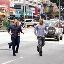 Il trio protagonista in una scena dell'episodio Found di NCIS: Los Angeles