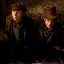 Andy Serkis e Simon Pegg in una delle prime immagini ufficiali del film Burke and Hare