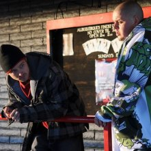 Breaking Bad: Aaron Paul e Rodney Rush nell'episodio Mas
