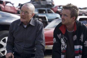 Bryan Cranston ed Aaron Paul nella premiere della stagione 2 di Breaking Bad
