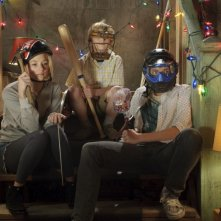 Haley Bennett, Nathan Gamble e Chris Massoglia in un'immagine del film The Hole in 3D