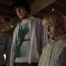 Haley Bennett, Nathan Gamble e Chris Massoglia in una sequenza del film The Hole in 3D