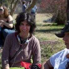 La regista Debra Granik sul set del film Winter's Bone.