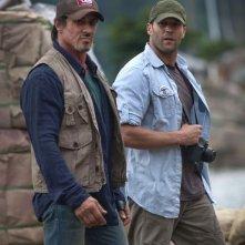 Sylvester Stallone e Jason Statham in una scena di The Expendables