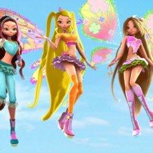 Un'immagine delle perfide Trix dal film Winx Club 3D